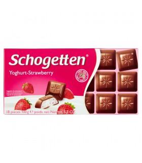 Schogetten Czekolada mleczna z nadzieniem jogurtowo-truskawkowym 100 g
