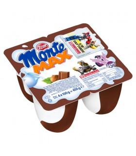 Zott Monte Max Deser mleczny z czekoladą i orzechami 400 g (4 x 100 g)