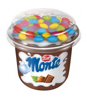 Zott Monte Deser mleczny z czekoladą orzechami i drażami kakaowymi 70 g