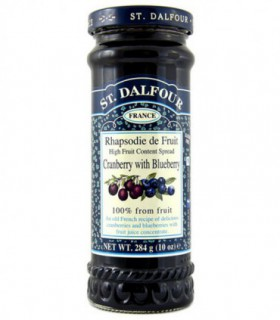 Dżem St Dalfour żurawina z jagodą bez cukru 284g