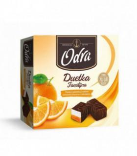 ODRA Duetka Familijna Pianka z galaretką z sokiem pomarańczowym w czekoladzie