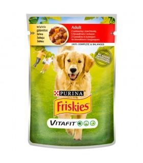 Friskies Vitafit Adult Karma dla psów z wołowiną i marchewką w galaretce 100 g