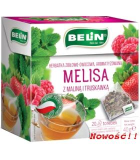 Melisa z maliną i truskawką – herbatka ziołowo-owocowa