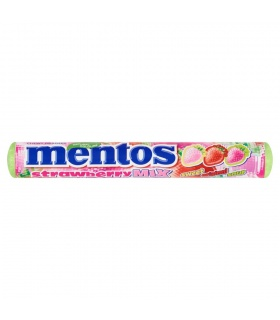 Mentos Strawberry Mix Cukierki do żucia 37,5 g