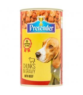 Pretender Karma dla psów kawałki mięsne z wołowiną w sosie 1250 g