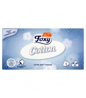 Foxy Cotton Ultra miękkie chusteczki 3 warstwy 90 sztuk