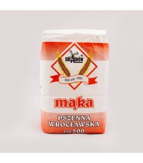 Mąka pszenna wrocławska typ 500 Młyn Dalachów 1kg