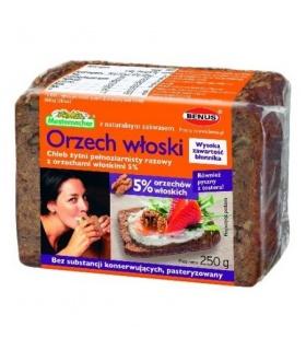 Mestemacher Chleb żytni pełnoziarnisty razowy z orzechami włoskimi 250 g
