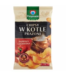 Przysnacki Chipsy w kotle prażone papryka czerwona 125 g