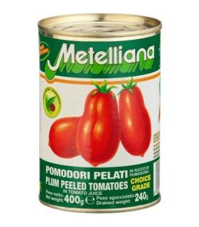 Metelliana pomidory bez skórki 400g