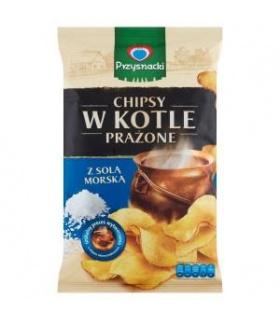 Przysnacki Chipsy w kotle prażone z solą morską 125 g
