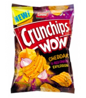 CHIPSY CRUNCHIPS WOW CHEDDAR RED ONION 110G LBSNACKS