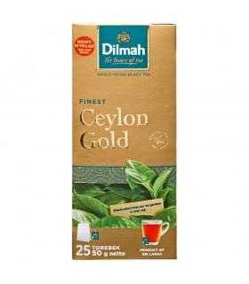 Dilmah Finest Ceylon Gold Klasyczna czarna herbata 50 g (25 x 2 g)