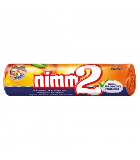 nimm2 Nadziewane cukierki owocowe wzbogacone witaminami 50 g