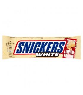 Snickers White Baton z nadzieniem i orzeszkami ziemnymi w karmelu i białej czekoladzie 49 g