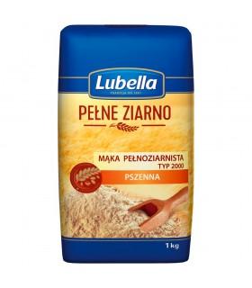 Lubella Pełne Ziarno Mąka pełnoziarnista pszenna typ 2000 1 kg
