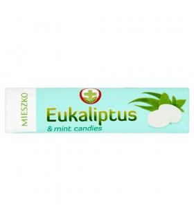 Mieszko Eukaliptus Karmelki twarde z olejkiem eukaliptusowym i miętowym 32 g