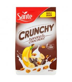 Sante Crunchy Chrupiące płatki bananowe z czekoladą 350 g