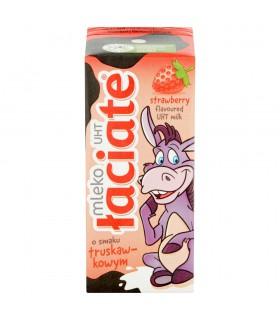 Łaciate Mleko UHT o smaku truskawkowym 200 ml