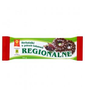 Cukry Nyskie Herbatniki regionalne w polewie kakaowej 79 g