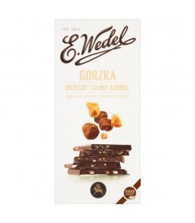 E. Wedel Czekolada gorzka orzechy i słony karmel 100 g