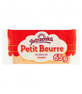 Jutrzenka Herbatniki Petit Beurre cienkie 65 g