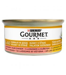 Gourmet Gold Karma dla kotów łosoś i kurczak w sosie 85 g