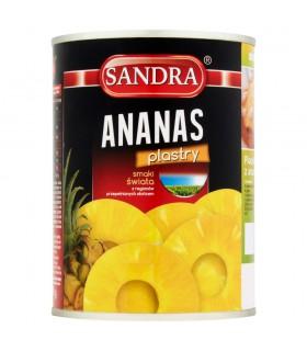 Sandra Ananas plastry 565 g