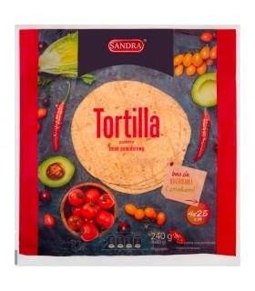 Sandra Tortilla pszenna smak pomidorowy 240 g (4 x 60 g)