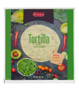 Sandra Tortilla pszenna smak szpinakowy 240 g (4 x 60 g)