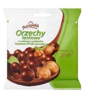 Jutrzenka Orzechy laskowe w mlecznej czekoladzie 80 g
