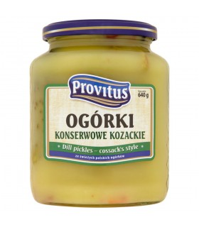 Provitus Ogórki konserwowe kozackie 640 g