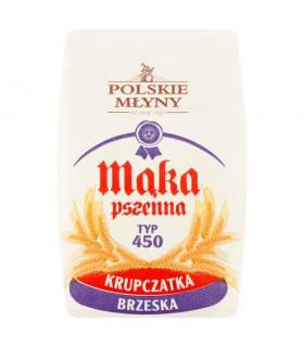 Polskie Młyny Mąka pszenna krupczatka brzeska typ 450 1 kg