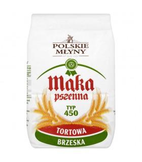Polskie Młyny Mąka pszenna tortowa brzeska typ 450 1 kg