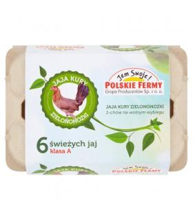 Jaja kury zielononóżki 6 sztuk