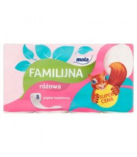 Mola Familijna Różowa Papier toaletowy 8 rolek