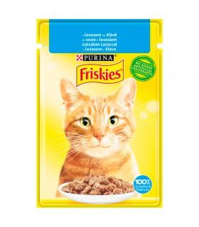 Friskies Karma dla kotów w sosie z łososiem 85 g