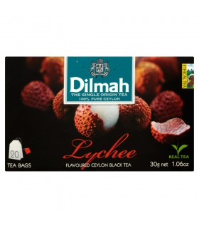 Dilmah Lychee Cejlońska czarna herbata z aromatem owocu liczi 30 g (20 torebek)