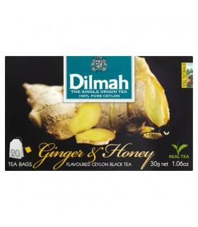 Dilmah Cejlońska czarna herbata z aromatem imbiru i miodu 30 g (20 torebek)