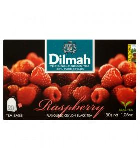 Dilmah Cejlońska czarna herbata z aromatem maliny 30 g (20 torebek)