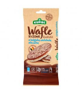 Kupiec Wafle ryżowe z belgijską czekoladą mleczną 60 g (4 sztuki)