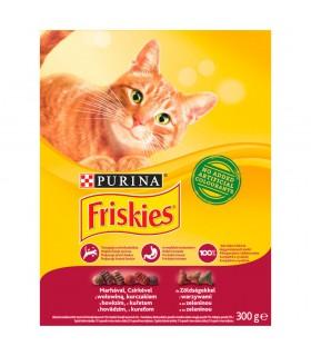 Friskies Karma dla kotów z wołowiną kurczakiem i warzywami 300 g