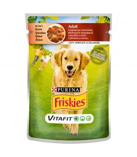 Friskies Vitafit Adult Karma dla psów z jagnięciną i marchewką w sosie 100 g