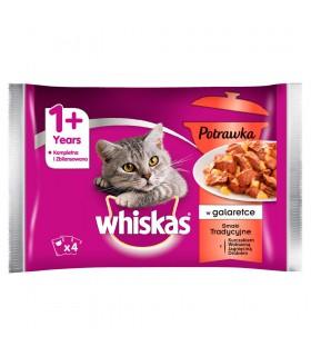 Whiskas 1+ lat Karma pełnoporcjowa potrawka w galaretce smaki tradycyjne 340 g (4 x 85 g)