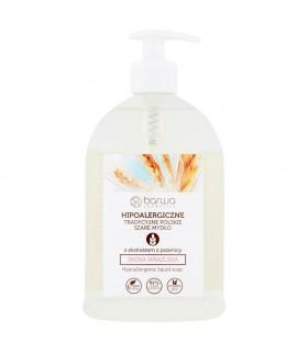 Barwa Hipoalergiczne tradycyjne polskie szare mydło z ekstraktem z pszenicy 500 ml