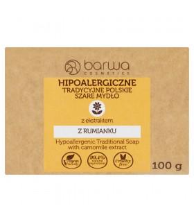 Barwa Hipoalergiczne tradycyjne polskie szare mydło z ekstraktem z rumianku 100 g